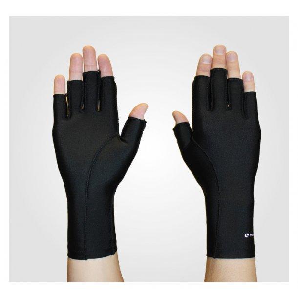 Ødemhandske let tryk 3/4 finger - bilateral sort