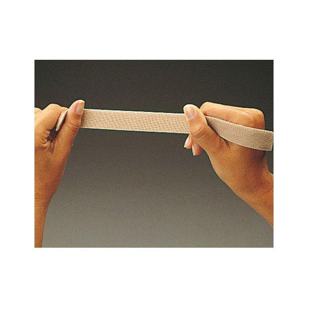 Loop tape elastic hvid 25 mm - rulle a 25 m