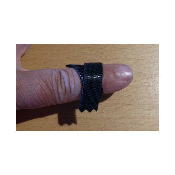 One-Wrap 10 mm sort velours + hook 25 m