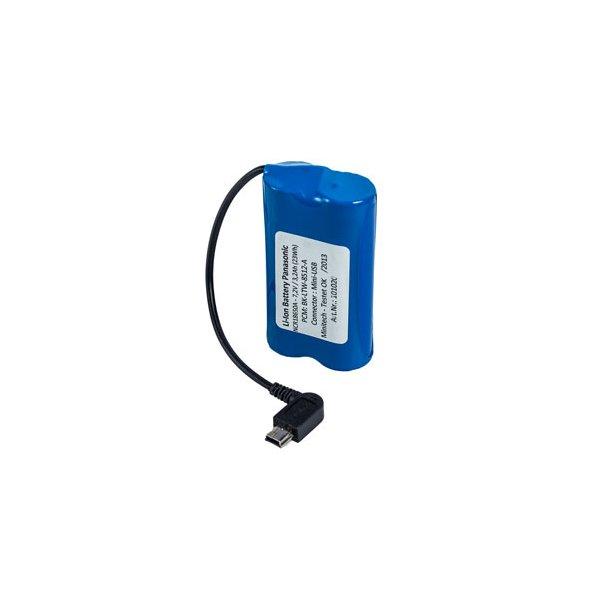 Ekstra batteripakke = 1 stk 7,2V/3200mAh Li-Ion