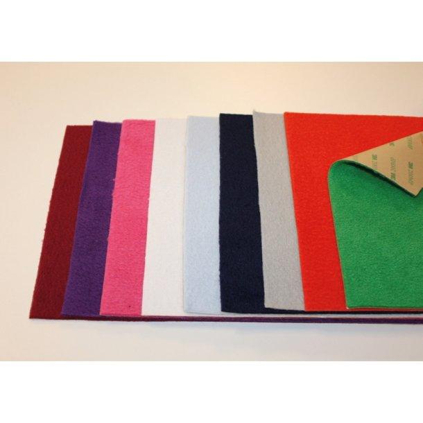 Villa Manus fleece pakke med 9 ark i 9 farver