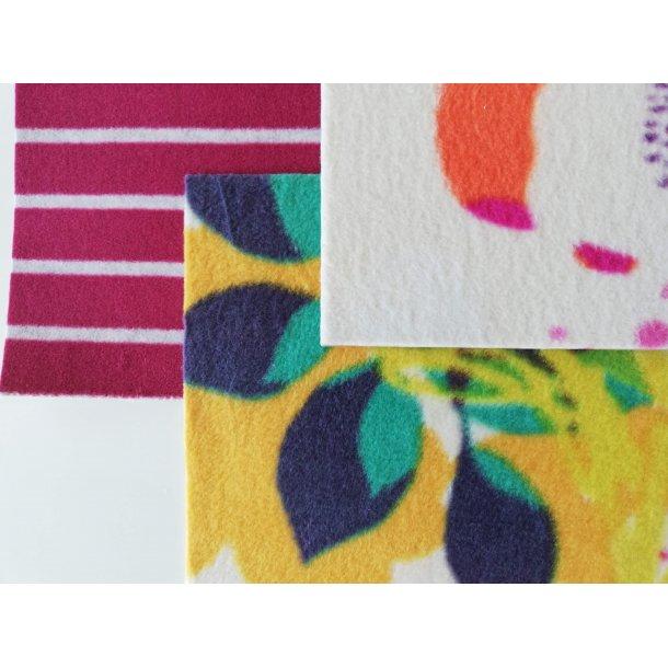Villa Manus mønstret fleece pakke med 9 ark i 9 farver