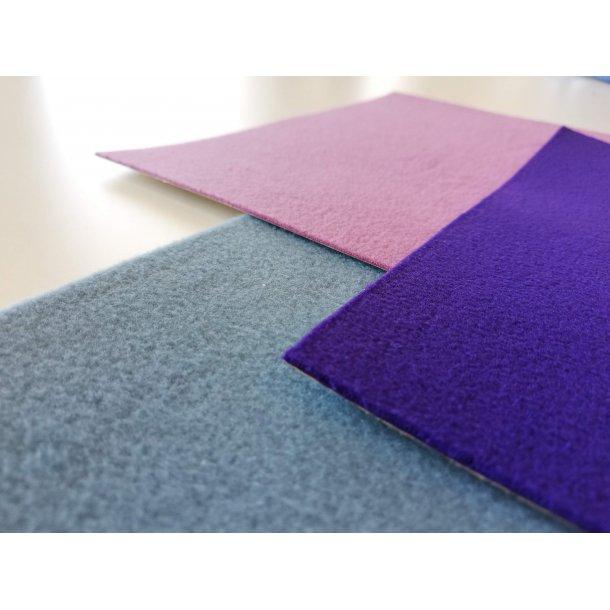 Villa Manus tynd fleece pakke med 9 ark i 9 farver