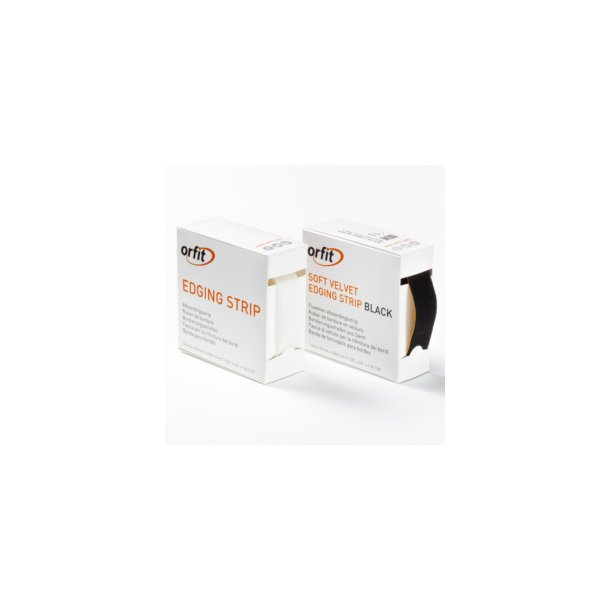 solf velvet edging strip black 1mm x 2 cm - 300 cn