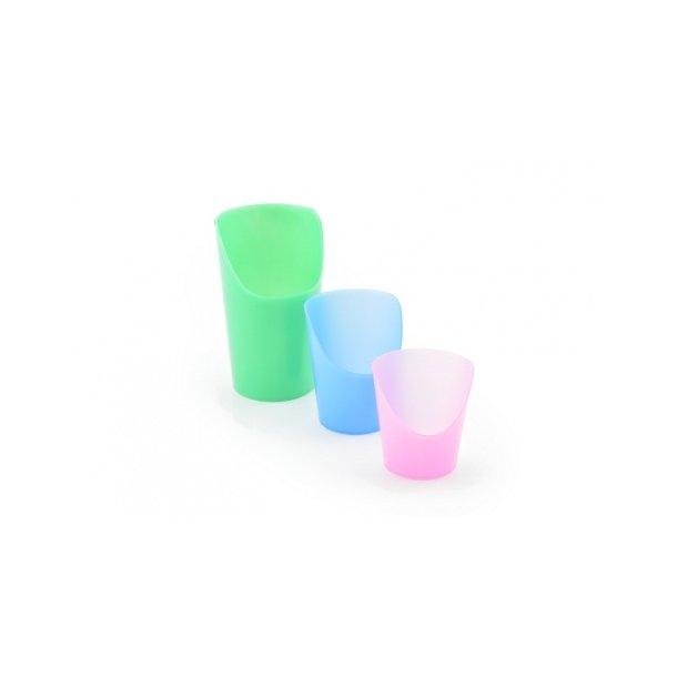 Drikkebæger med udskæring til næse, flexibel - 2 stk. pakning